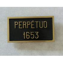 Placa Perpetua Bronze Aluminio Identificação Tumulo,jazigo