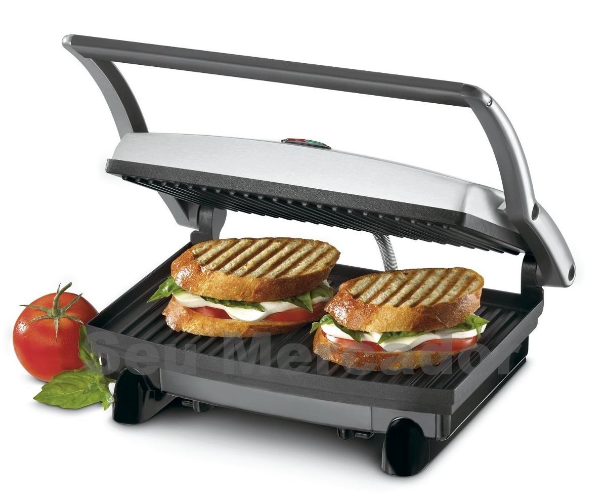 grill sanduicheira grande a o inox cusinart para hamburguer r 468 60 no mercadolivre. Black Bedroom Furniture Sets. Home Design Ideas
