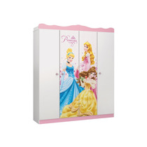 Mdf Guarda Roupa Star 4 Portas Princesas Disney Pura Magia