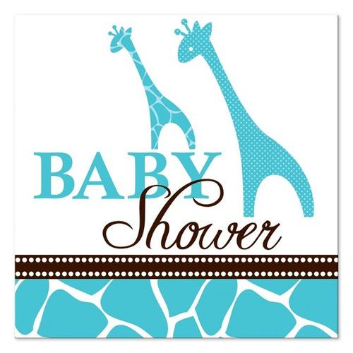 Guardanapos De Papel Chá De Bebe Girafa/ Baby Shower 16 Un
