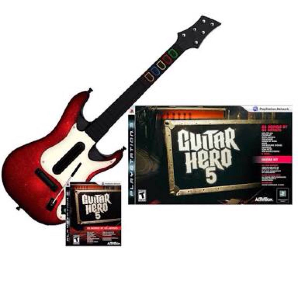 Guitar Hero 5 Para Ps3 (guitarra + Jogo) - R$ 280,00 no ...