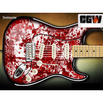Skin Blood Sangue Escorrendo - Adesivo Guitarra Baixo Violão