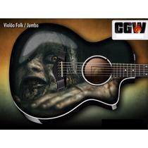 Evil Dead Skin Adesivo Guitarra Baixo Violao