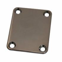 Neck Plate/placa Do Braço P/guitarra Ou Baixo - Cosmo Black