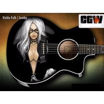 Black Cat Marvel Skin Adesivo Guitarra Baixo Violao