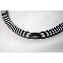 Binding (filete) Sanduiche Preto/branco/pret 160cmx6mmx1,5mm