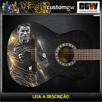Skin Cristiano Ronaldo Guitarra Baixo Violao Adesivo