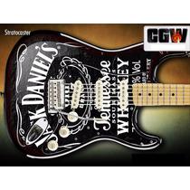 Jack Daniels Skin Adesivo Guitarra Baixo Violao Jack Guitar