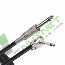 Cabo P10 Pedal Guitarra Violão Baixo Plug 90 Graus L 3 M Mts