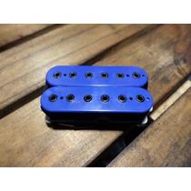 Captador Braço Malagoli Custom Hb6 Azul Enrolado A Mão