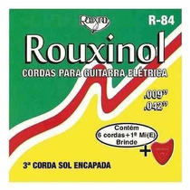 Cordas Para Guitarra Elétrica Rouxinol 6 Cordas