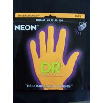 Encordoamento Baixo 4 Cordas 0.45 Neon Orange - Dr Strings