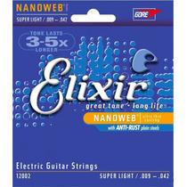 Encordoamento Elixir Nanoweb 009 - Alanis Mania Musical
