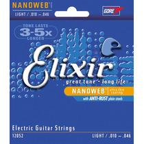 Encordoamento Guitarra Elixir Nanoweb 010 Anti-rust 12052