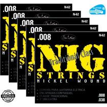 Encordoamento Nig N62 Guitarra 08 038 Corda - 5 Jogos