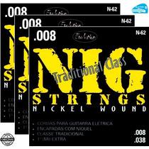 Encordoamento Nig N62 Guitarra 08 038 Corda - 3 Sets