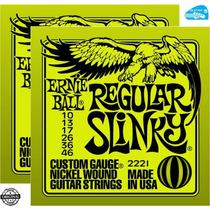 Cordas 010 Ernie Ball Guitarra 2221 2 Sets + Brinde Promoção