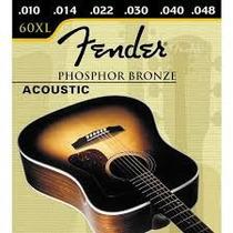 Encordamento Cordas Fender 60xl Bronze .010 - Para Violão
