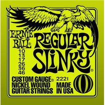 Encordoamento Guitarra Ernie Ball Regular Slinky .010/.046
