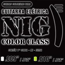 Encordoamento Nig Color Class Verde - 10-46 - Loja Física