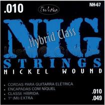 Cordas Nig Para Guitarra - Nh67 Híbrida - .010 - .049