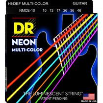 Cordas Guitarra Dr String Coloridas Neon 0.10/0.46 Rocksmith