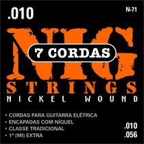 Cordas Nig Para Guitarra N71 - 7 Cordas - .010/.056
