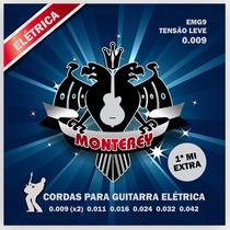 2 Jogos De Cordas 0.09 Para Guitarra Encordoamento Monterey