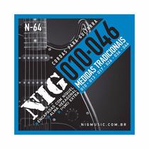 Cordas Nig - Guitarra N64 -tradit. Class- .010/.046 S\ Juros
