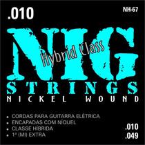 Cordas Nig - Guitarra Nh67 - Híbrida- .010/.049 S\ Juros