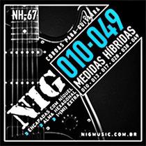 Encordoamento Nig Nh67 P/ Guitarra Hybrida .10/0.49 - Ec0071