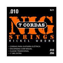 Cordas Nig Para Guitarra Modelo 7 Cordas - N-71 - .010/.056