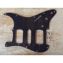 Escudo Strato Preto Padrao Fender Am Std H-s-h