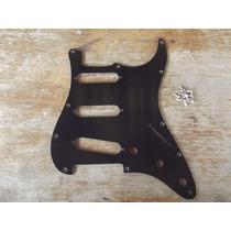Escudo Stratocaster Preto Padrao Fender Am Std 11 Furos Sss