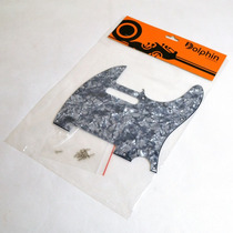 Escudo Perolado Preto P/ Guitarra Telecaster - Dolphin