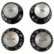 Knobs Tone/volume Modelo Sg Preto Dolphin C/4 - Ac0640