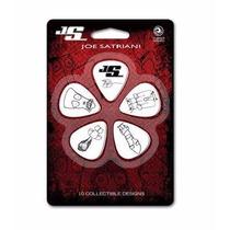 Kit C/ 10 Palhetas Joe Satriani Planet Waves C/brinde