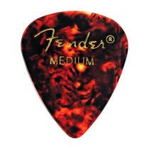 Palheta Shell Média Fender Para Guitarra Baixo Violão