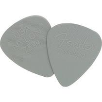Palheta Nylon Pick 0.73 Média Cinza Fender