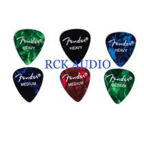 100 Palhetas Fender Thin, Medium Ou Heavy (frete Grátis)