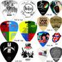 6 Palhetas De Bandas Personalizadas Rock