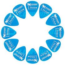Palheta Fender California Média Medium Pacote C/ 12 Unidades
