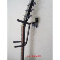 Suporte De Parede P/ Violão, Guitarra, Baixo C/ Apoio 180º