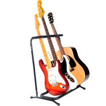 Rack Suporte Chão Fender 3 Guitarra Baixo Violão Dobravel