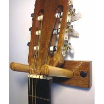 Suporte De Parede Para Violão, Guitarra, Baixo - Em Madeira