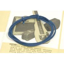 Fio Pano Cor Azul Eletrica Guitarra Fender 50cm Luthier