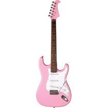 Eagle Sts001 Guitarra Elétrica Strato : Rosa - Frete Grátis