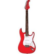 Ritmus ! Eagle Sts001 Guitarra Elétrica Strato Cor Vermelha
