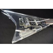 Guitarra Art Pro Flying V De Acrílico Randy Roads Frt Grátis