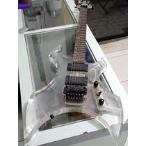 Guitarra Art Pro Ax Acrílico Warlock Com Floyd Rose